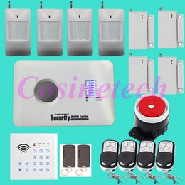 Wholesale Cheap Remote Alarms - Cheap classical SMS GSM Alarm system Home security alarm system with remote controlled Keypad,RFID tag,PIR detector,door sensor