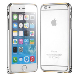 Wholesale Iphone Alloy Bumper - 300PCS Luxury Aluminum Alloy Metal Bumper Frame Protective Case Cover for iPhone 6 4.7 inch 6 Plus 5.5 inch