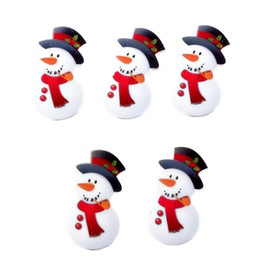 Wholesale Cabochons Kids - 30Pcs Cartoon Christmas Snowman Santa Claus Bell Sock Tree Resin Planar Cabochons Flatback Decoden Craft DIY Kids Christmas GIFT Decor