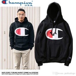 Wholesale Hoodies Big Size - New pattern high quality men women hoodie off white Champ Supp streetwear hip hop kanye west hoodie big logo Free delivery (Asian size)