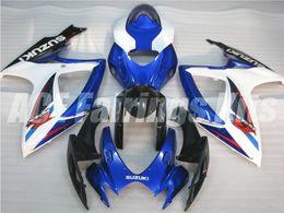 Regalos gratis + Cubierta de asiento Nuevo motor Kits de carenado para SUZUKI GSXR 600 750 K6 06 07 GSXR-600 GSXR750 GSXR600 GSXR-750 2006 2007 comprar en caliente azul blanco desde fabricantes