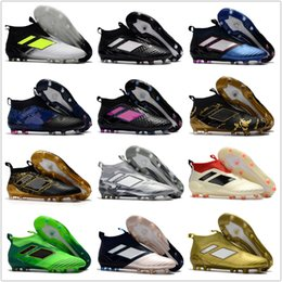Wholesale Gold Spiked Sneakers - 2017 Discount Cheap Ace17+ Purecontrol FG AG Ace 17 Cheap Online Hot-sell Soccer Shoes Football Sneakers Soccer Cleats Soccer Boots