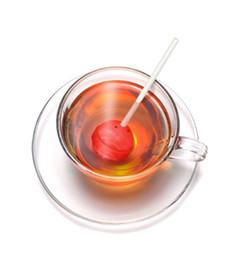 Wholesale Tea Infuser Cup Wholesale - Silicon Sweet Tea Infuser Candy Lollipop Loose Leaf Mug Strainer Cup Steeper