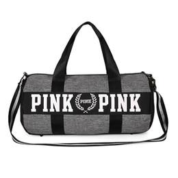 Wholesale Travel Pillow Free Shipping - 2017 Fashion Handbags PINK Storage Bag organizer Travel Bag Waterproof Casual Beach Exercise Women Bag Yoga Sport Duffel Bags Free Shipping
