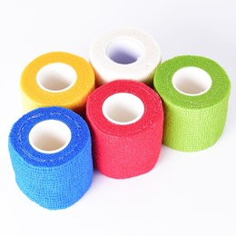 Wholesale Tattoo Mix Disposable Tubes - 5pcs Disposable Self-adhesive Elastic Bandage for Handle Grip Tube Tattoo Accessories Mix Color