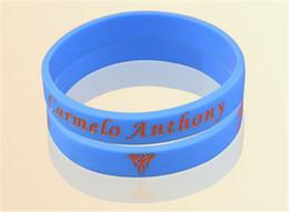 Wholesale Anthony Bangle - High quality new fashion jewelry sports balance wristband super star anthony signature silicone power bangle balance bracelet