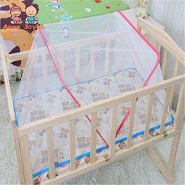 Wholesale Baby Crib Canopy Netting - Wholesale- Factory Price Summer Baby Bed Mosquito Mesh Dome shaped Curtain Net for Toddler Crib Cot Canopy