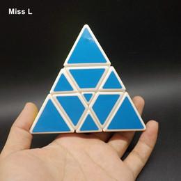 Wholesale Intelligence Pyramid Toys - Funny Pyramid Triangle Puzzle Magic Cube Speed Twist Toy Teaching Aids Kid Intelligence Mind Game Anti Stress Christmas Gift