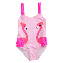 Wholesale Cute Toddler Girls Swimwear - ITFABS Toddler Kids Swimming Costumes Baby Girls Cute Swan Bikini Swimwear Tankini Swimsuit Bathing Suit Beachwear