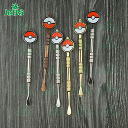 Wholesale Superhero Pens - SS,Gold and Copper colors Superhero Skull wax tool dabber vax atomizer stainless steel dab titanium nail clean tool dry herb vaporizer pen