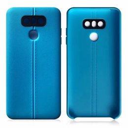 Wholesale End Line - For Samsung Galaxy S8 Plus Dual Lines The High End Luxury Back Cover Honeycomb Case Slim Flexiable TPU Anti Skid Cover Opp Bag