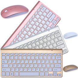 Wholesale keyboard gamers - Waterproof Original K108 2.4G Multi-Media Mini Wireless Keyboard and Mouse Combo for Android TV BOX PC Mac Laptops Desktops Gamer