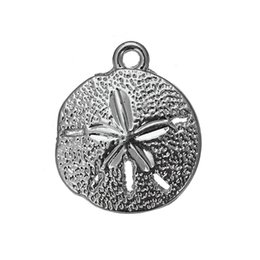 Wholesale Beach Birds - One Side Antique Silver Plated Cute Metal Bird & Beach Sand Dollar Animals Charms Zinc Alloy Pendant For Diy Necklaces Bracelets Making