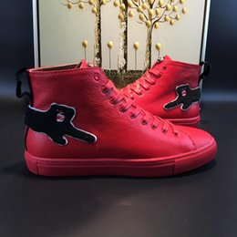Wholesale Leather Boot Italian Men - Men Fashion Boots spring and fall Luxury brand mens shoes Italian designer Style casual boots model 184062704