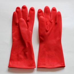 Wholesale Long Sleeve Latex Gloves - 2 Pair Household Cleaning Kitchen Washing Laundry Gloves Waterproof Long Sleeves Gloves Rubber Latex Gloves Plastic