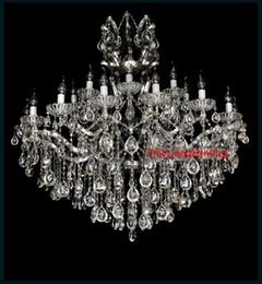 Maria theresa luz araña de cristal online-Venta caliente Maria Theresa Clear White Crystal Chandelier Lámpara Lustre Cristal Pendelleuchte Light Gran lámpara de cristal casa
