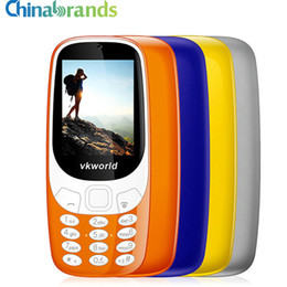 Wholesale Gsm Tv - VKworld Z3310 Elder Phone 3D 2.4 inch 1450mAh 2.0MP 2G GSM Mobile Phone Dual SIM FM Torch Bluetooth Phone Large Buttom