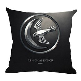 Wholesale Cooling Pillow Cover - Game of thrones series linen pillow case square cushion cover breathable material printing cool style movie symbols popular decoration