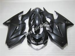 Wholesale Plastic Injection Molded - Injection molded plastic Fairing kit for Kawasaki Ninja 250R 2008-2014 matte black fairings EX250 08 09 10 11 12 13 14 AB05