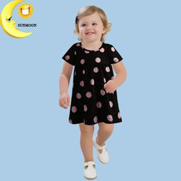 Wholesale Cute Girl Toddler Clothes - Wholesale- Fashion summer baby dress new brand girls kids clothes cute pattern toddler girl clothing princess dresses vestido infantil