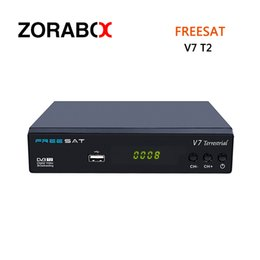 Wholesale Set Top Box Dvb T2 - Freesat V7 Terrestrial Set Top Box 1080P Full HD DVB-T T2 Support USB2.0 High Speed HOST DVR HDD Software Upgrade