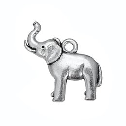 Wholesale Wholesale Silver Elephant Charm - elephant Animal adorable Accessory Charm Antique Silver Plated Charm DIY Necklace&Bracelet Jewelry Special style hot sell