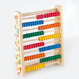 Wholesale Green Wooden Beads - Wholesale- Free shipping Children Wooden abacus beads early childhood, Kids Educational color calculation frame 10 files toy
