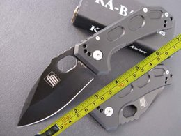 Wholesale Full Tactical - free shipping 8'' KA-BAR NEW 440 Blade Full Steel Handle Line Lock Pocket Floding Knife KB02