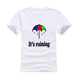 Wholesale Clear Umbrella Printing - Rain umbrella 2017 New Clothes Fashion Man Casual T-Shirt Cotton O Neck Short Sleeve Loose Personalized unique Male Tops Tees Wholesale
