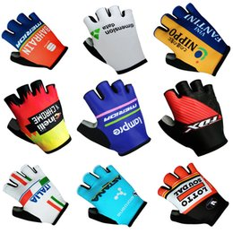 Wholesale New Cycling Gloves - 2017 New BAHRAIN DATA FANTINI INELLI FOX ITALIA ASTANA LOTTO Cycling Gloves racing MTB TEAM gloves Bike bicycles gloves with Gel pads