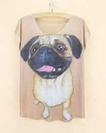 design shirts sell Coupons - Wholesale-2015 Hot Selling Real 3D Women T Shirts Short Sleeve Novlety french pugs Printed T-Shirts Big Size girls Tops fashion design Tee