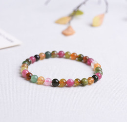 Wholesale Tourmaline Beads Bracelets - Authentic Tourmaline 5mm Bracelets Beads Natural Stone Gemstone Fashion Crystal Jewelry Accessory Party Gifts Wholesale Beauty