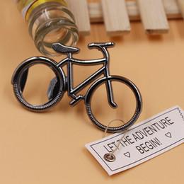 Wholesale Wedding Souvenir Wine - New Bottle Opener Metal Bicycle Bike Shaped Wine Openers Wedding Favor Souvenir Party Gift Present IC564