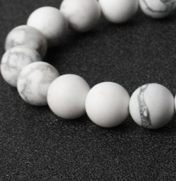 Wholesale Howlite Cross Bracelets - wholesale free shipping high quality loose beads natural stones matt turquoise beads for bracelet making White Howlite beads