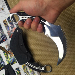 Wholesale Combat Karambit - TODD BEGG Conqueror claw knife karambit claw 8cr18mov blade K sheath 1pcs freeshipping