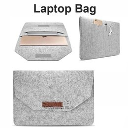 Wholesale Tablet Pouches Inch - Laptop Bag For 11.6 inch to 15.4 inch For Macbook Samsung S2 Tablet Case Portable Felt Carrying Protective Sleeve Bag Pouch