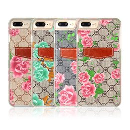 Wholesale Apple Jeans - hot sale cell phone case ultra thin leather pouch card holder flower printing demin jeans wallet case for iphone 7 7s 6 6s plus