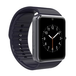 Wholesale Micro Sd For Wholesalers - GT08 smart watches mobile phone intelligent clock with SIM card camera message reminder bluetooth calls whatsapp micro SD for Android phones
