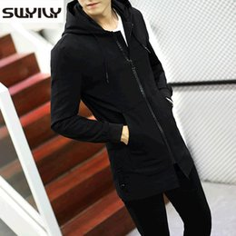 Wholesale Men Frocks - Wholesale- Long Frock Coat Slim Windbreaker Jacket Mens Solid Color Trench Coats 2017 Autumn New autumn Overcoat For Male Plus Size M-5XL