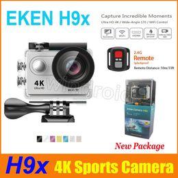 Wholesale Camera Hd Cmos Mini - Original EKEN H9x Ultra HD 4K Action Sports Camera with remote control Wifi 30M Waterproof Sport DV 4K 2.7K 1080P 720P 120fps Mini Camera