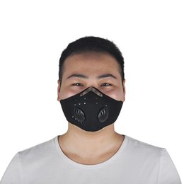 Wholesale Bicycle Mask Dust - Outdoor Sport Bicycle Riding Cycling Anti Dust Motorcycle ATV Ski Half Face Mask Filter Dustproof Mouth-muffle Black Red Blue 2501052