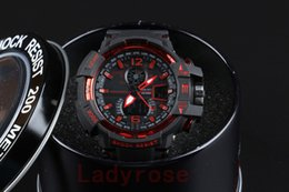 Wholesale Gift Boxes For Belts - GA1100 with box relogio men's sports watches, LED chronograph wristwatch, military watch, digital watch, good gift for men & boy, dropship