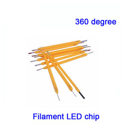 Wholesale Current Degree - 50X LED filament chip 360 degree high voltage 75V low current 10mA CRI >80 for bulb light candle light free shipping