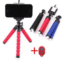 Wholesale Mini Octopus - Variety mobile phone octopus stent mini sponge tripod + phone Bluetooth camera remote control Mobile mini Selfie Tripod
