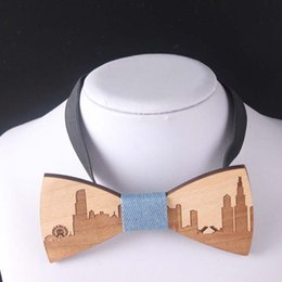 Wholesale clip bow ties wholesale - bow ties wood bow tie for men vintage neck ties men fashion accessories for formal suit
