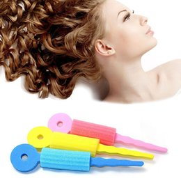 Wholesale Pink Sponge Curlers - Magic Sponge Soft Hair Curler Hair Styling Hair Roll Rollers DIY Tools for Women Girl Bigoudis Magique ZA2468