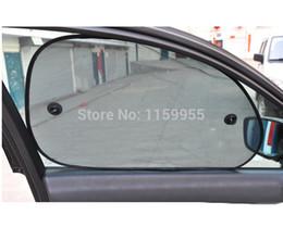Wholesale Car Rear Window Sun Screens - Wholesale- 2pcs 65*38 Black Side Car Sun Shade Rear Window Auto glass sunshade Sunshade Cover Mesh Visor Shield Screen Solar Protection