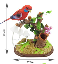 Wholesale Plastic Toy Birds - Children's electric toy authentic voice control bird creative simulation induction bird can sing and dance will call will move