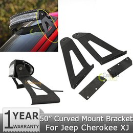 """Wholesale Bar Mount Bracket - Wholesale- car A pair of 50"""" Curved Led Light Bar Upper Windshield Mounts Mounting Brackets For Jeep Cherokee XJ 1984~2001"""