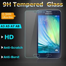 samsung a8 Скидка 9h HD Clear 0.3 мм премиум закаленное стекло для Samsung A5 A7 A8 Samsung S5 S6 S7 J1 J5 J7 протектор экрана